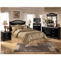 Signature Design by Ashley Constellations 2 Drawer Nightstand - Shown with Headboard Bed