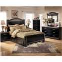 Signature Design by Ashley Constellations 2 Drawer Nightstand - Shown with Storage Bed