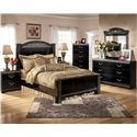 Signature Design by Ashley Constellations 2 Drawer Nightstand - Shown with Headboard & Footboard Bed