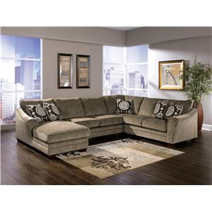 Signature Design By Ashley Cosmo Marble Sectional Sofa