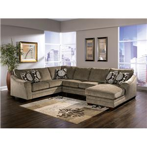Signature Design by Ashley Cosmo - Marble Sectional Sofa