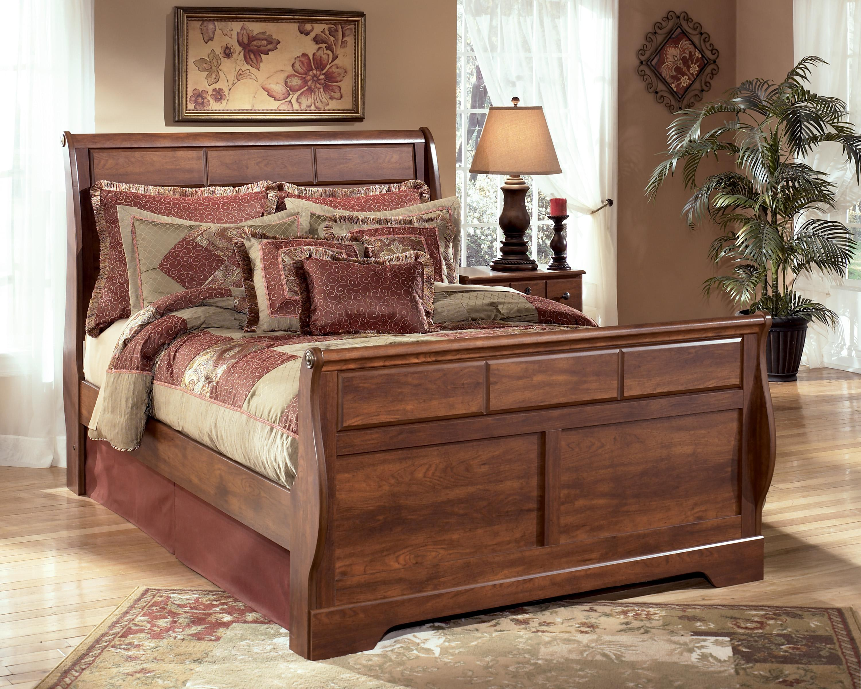 Signature Design by Ashley Timberline Queen Sleigh Bed - Item Number: B258-57+54+96