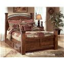 Signature Design by Ashley Timberline Underbed Storage - Shown with Queen Poster Bed