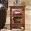 Signature Design by Ashley Cross Island Chairside End Table w/ Shelves - Item Number: T719-7