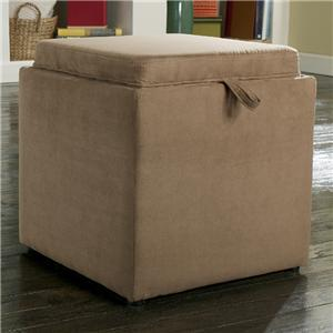 Signature Design by Ashley Cubit - Mocha Ottoman with Storage