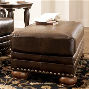 Signature Design by Ashley Furniture Chaling DuraBlend® - Antique Ottoman