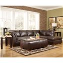 Signature Design by Ashley Fairplay DuraBlend® 2 Piece Sofa Sectional with Chaise - Shown with Oversized Accent Ottoman