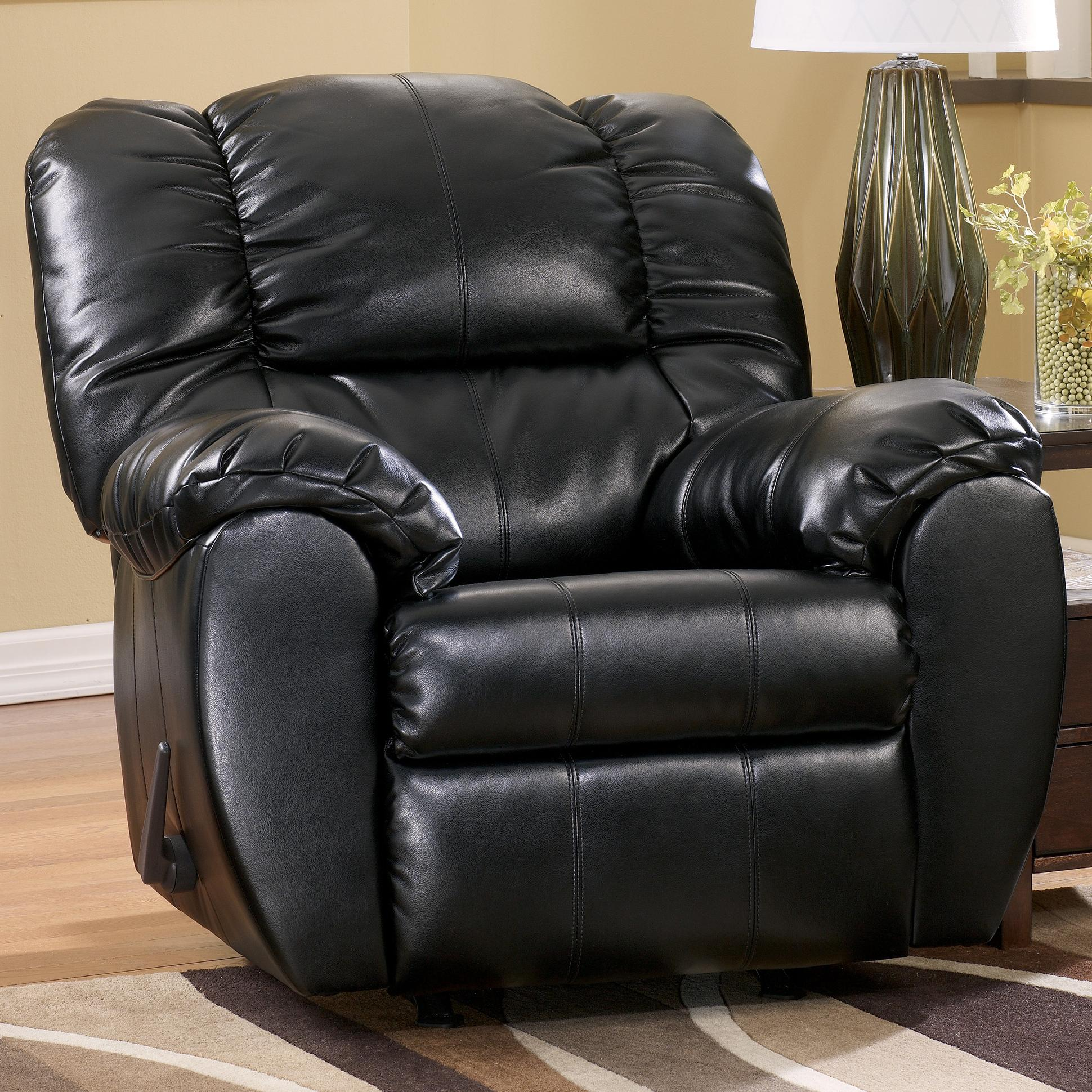 Signature Design by Ashley Dylan DuraBlend - Onyx Rocker Recliner - Item Number 7060425 : capote durablend sectional - Sectionals, Sofas & Couches