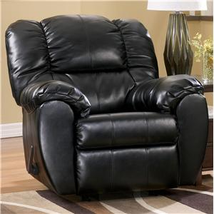 Ashley (Signature Design) Dylan DuraBlend - Onyx Rocker Recliner