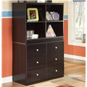 Signature Design by Ashley Embrace Loft Drawer Storage Chest - Shown with Open Loft Bookcase