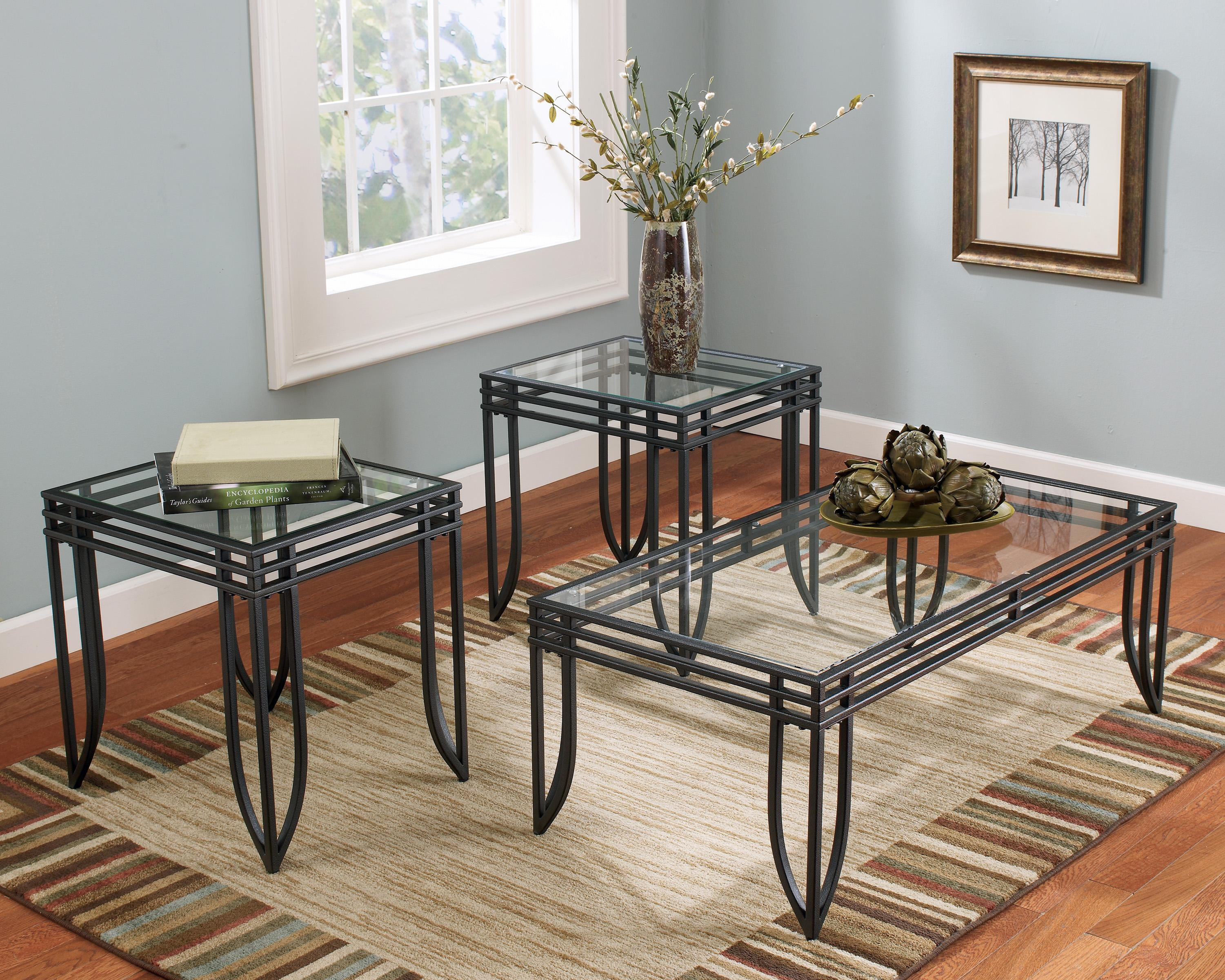Signature Design by Ashley Exeter 3-in-1 Occasional Table Group - Item Number: T113-13