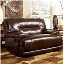 Signature Design by Ashley Exhilaration - Chocolate Zero Wall Recliner w/ Wide Seat - Item Number: 4240152