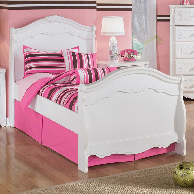 Signature Design by Ashley Exquisite Twin Sleigh Bed - Item Number: B188-63N+62N+82N