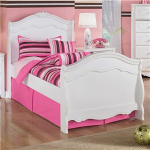 Signature Design by Ashley Exquisite Twin Sleigh Bed