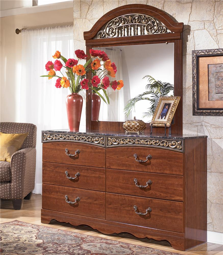 Signature Design by Ashley Fairbrooks Estate Dresser & Mirror - Item Number: B105-31+36