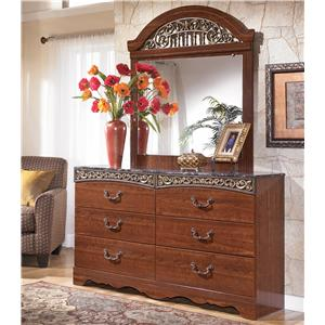 Signature Design by Ashley Furniture Fairbrooks Estate Dresser & Mirror