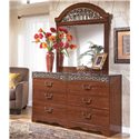 Signature Design by Ashley Fairbrooks Estate Dresser Mirror - Shown with 6 Drawer Dresser