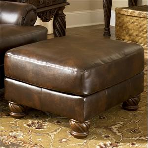 Signature Design by Ashley Fresco DuraBlend - Antique Accent Ottoman