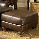 Signature Design by Ashley Fresco DuraBlend - Antique Accent Ottoman - Item Number: 6310013