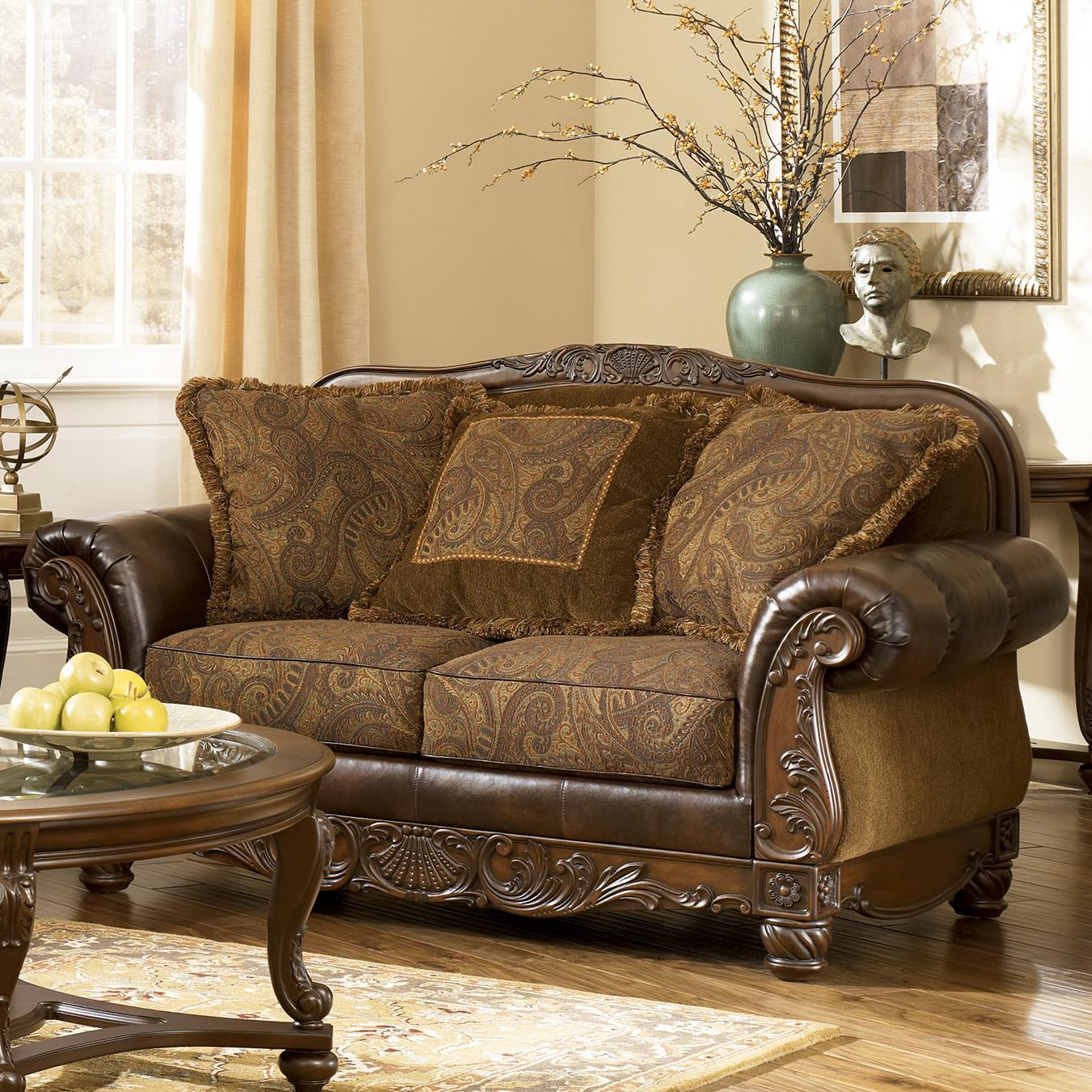 Signature Design By Ashley Fresco DuraBlend   Antique Loveseat   Item  Number: 6310035