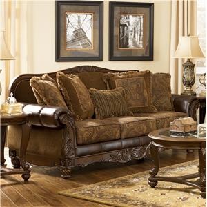Signature Design by Ashley Fresco DuraBlend - Antique Sofa