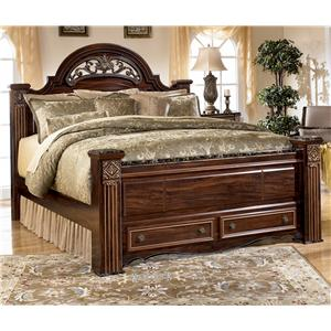 Signature Design by Ashley Gabriela Queen Poster Storage Bed