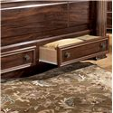Signature Design by Ashley Gabriela Traditional Queen Poster Storage Bed with Drawers - Pull Out Drawers Shown on King Poster Storage Bed