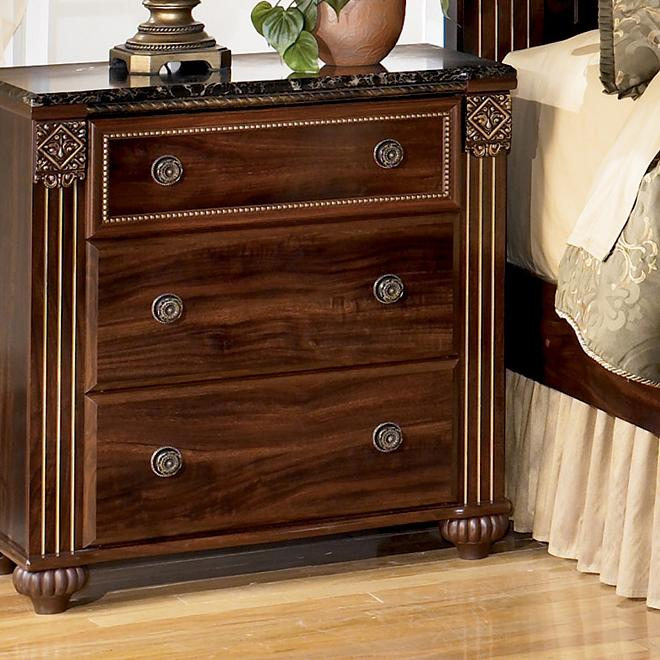 Signature Design by Ashley Gabriela 3-Drawer Night Stand - Item Number: B347-93