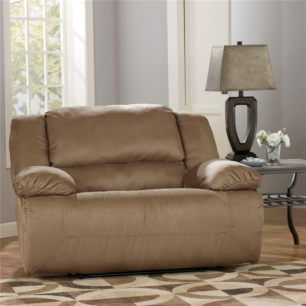 Signature Design by Ashley Hogan - Mocha Zero Wall Recliner with Wide Seat Box - Item Number: 5780252