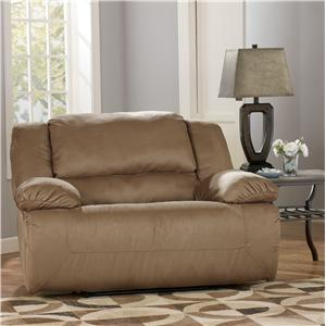 Ashley Signature Design Hogan - Mocha Zero Wall Recliner with Wide Seat Box