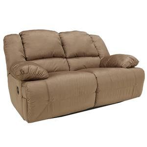 Signature Design by Ashley Hogan - Mocha Reclining Loveseat