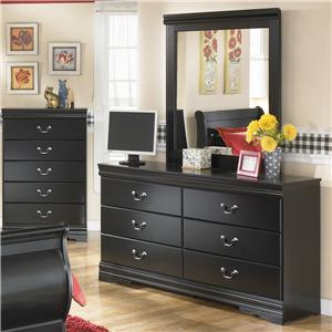 Signature Design by Ashley Furniture Huey Vineyard Dresser and Mirror Combination