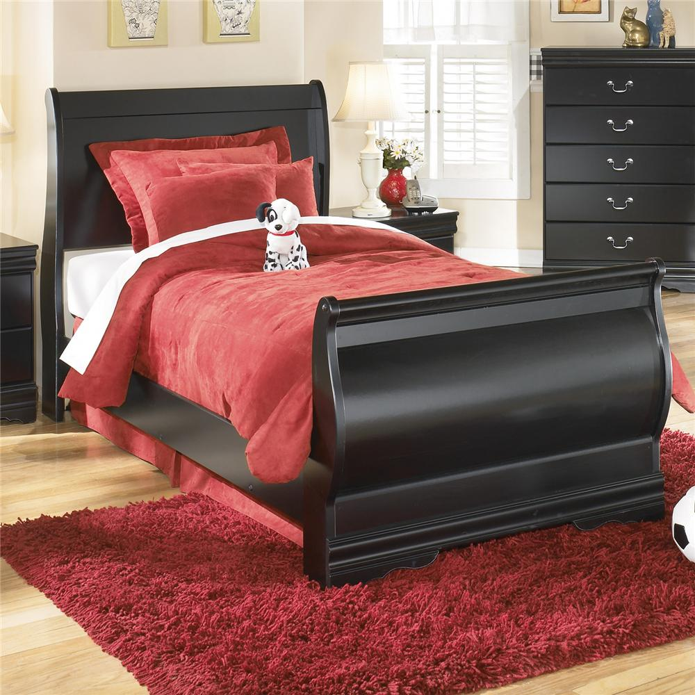 Signature Design by Ashley Furniture Huey Vineyard Twin Sleigh Bed - Item Number: B128-62+63+82