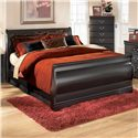 Ashley Signature Design Huey Vineyard Full Sleigh Bed - Item Number: B128-84+87+88