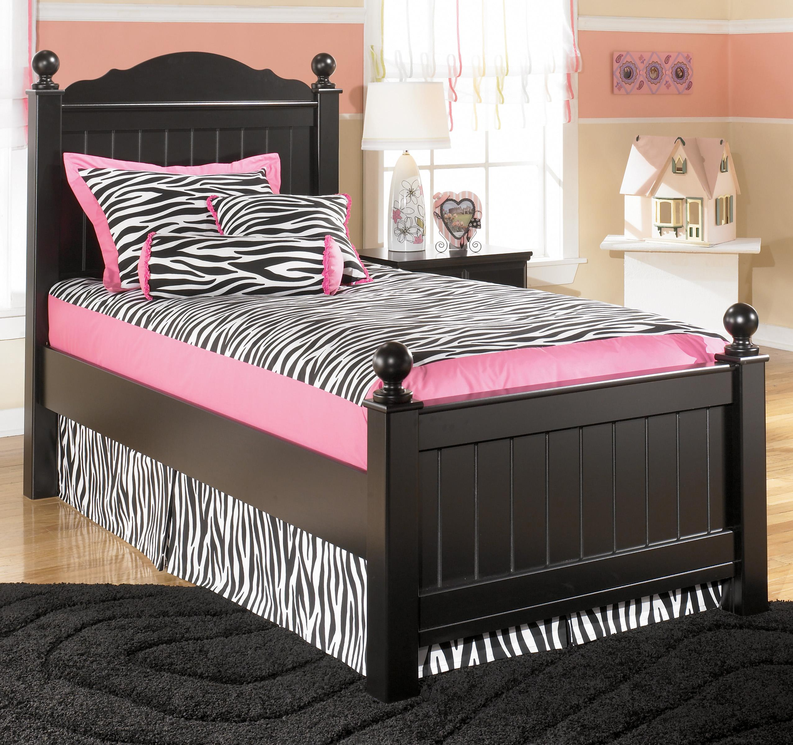 Signature Design by Ashley Jaidyn Twin Poster Bed  - Item Number: B150-53+52+83