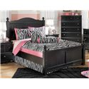 Signature Design by Ashley Jaidyn Underbed Storage Unit - Shown with Full Poster Bed