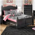 Signature Design by Ashley Jaidyn Full Poster Bed with Underbed Storage - Item Number: B150-87+84+88+60