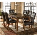 Signature Design by Ashley Lacey Faux Leather Tufted Upholstered Side Chair - Shown as part of 7-piece table set