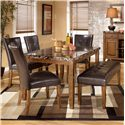 Signature Design by Ashley Lacey 6-Piece Dining Table, Chairs, & Bench Set - Item Number: D328-25+4x01+00