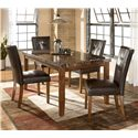 Signature Design by Ashley Lacey Rectangular Dining Table w/ Faux Marble Top - Shown as part of 5-piece table set