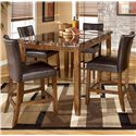 Signature Design by Ashley Lacey 5-Piece Counter Height Table & Bar Stools Set