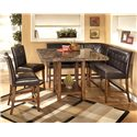 Signature Design by Ashley Lacey 6-Piece Dining Pub Set - Item Number: D328-33+2x323+2x124+320