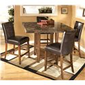 Signature Design by Ashley Lacey 5-Piece Pub Set - Item Number: D328-33+4x124