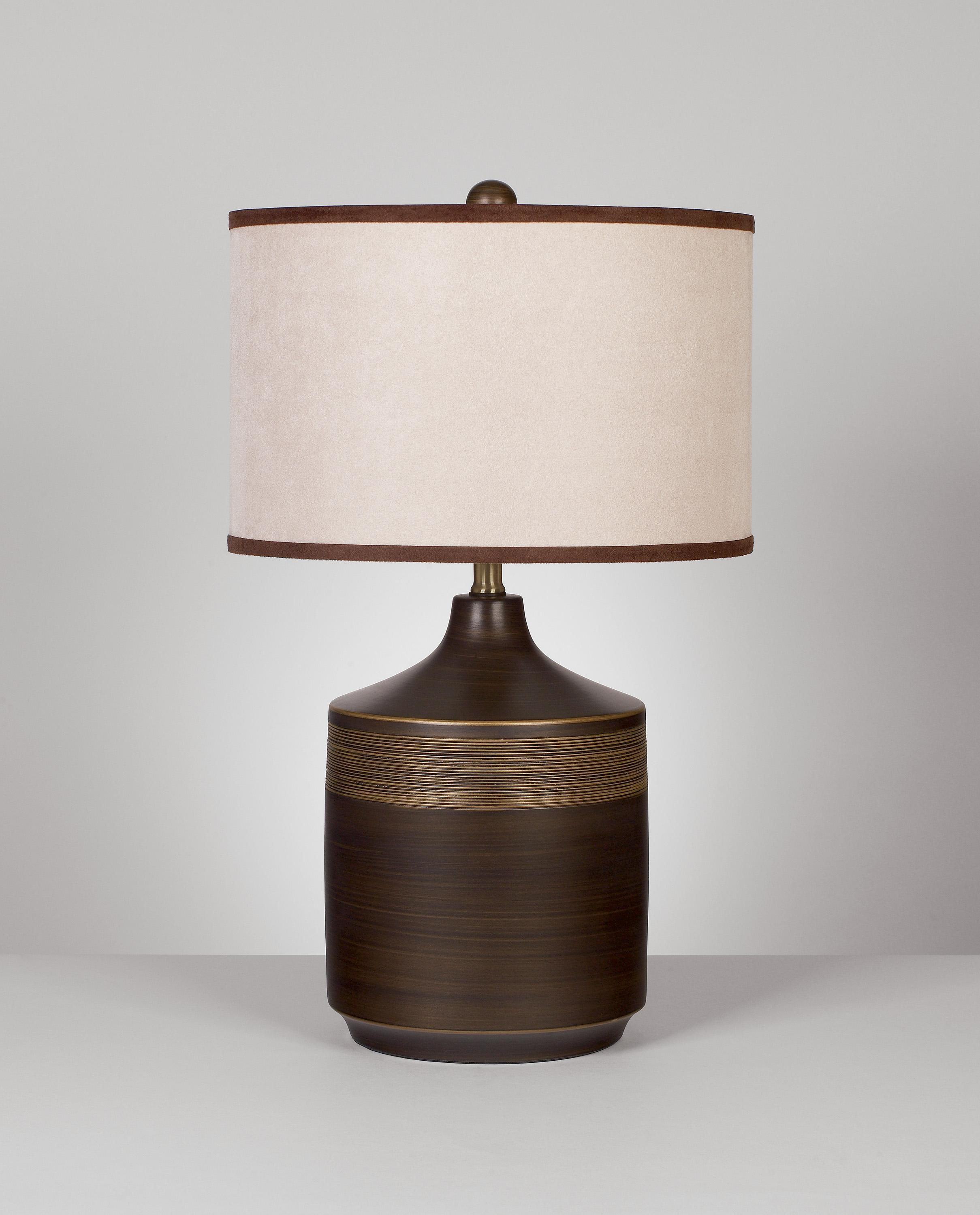 Signature Design by Ashley Lamps - Contemporary Set of 2 Karissa Table Lamps - Item Number: L129914