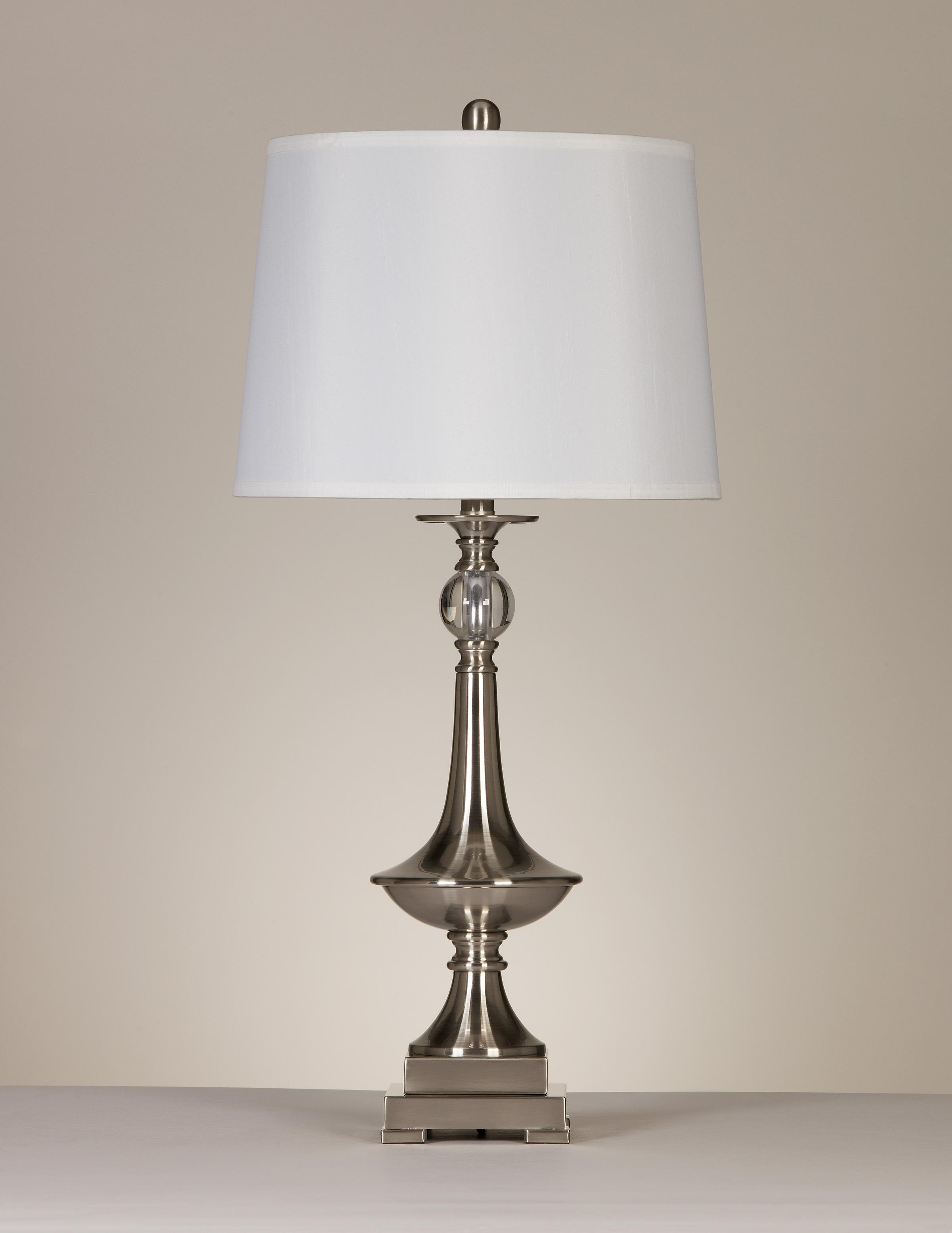 Signature Design by Ashley Lamps - Contemporary Set of 2 Newlyn Metal Table Lamps - Item Number: L428354