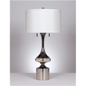 Signature Design by Ashley Lamps - Contemporary Set of 2 Marsha Table Lamps