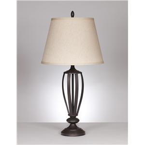 "Signature Design by Ashley Lamps - Traditional Classics ""Mildred"" Pair of lamps"