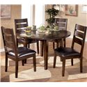Signature Design by Ashley Larchmont Dining Side Chair - Shown With Round Drop Leaf Table