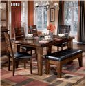 Signature Design by Ashley Larchmont Dining Side Chair - Shown With Bench and Rectangular Dining Table