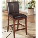 "Signature Design by Ashley Larchmont 24"" Upholstered Bar Stool - Item Number: D442-224"